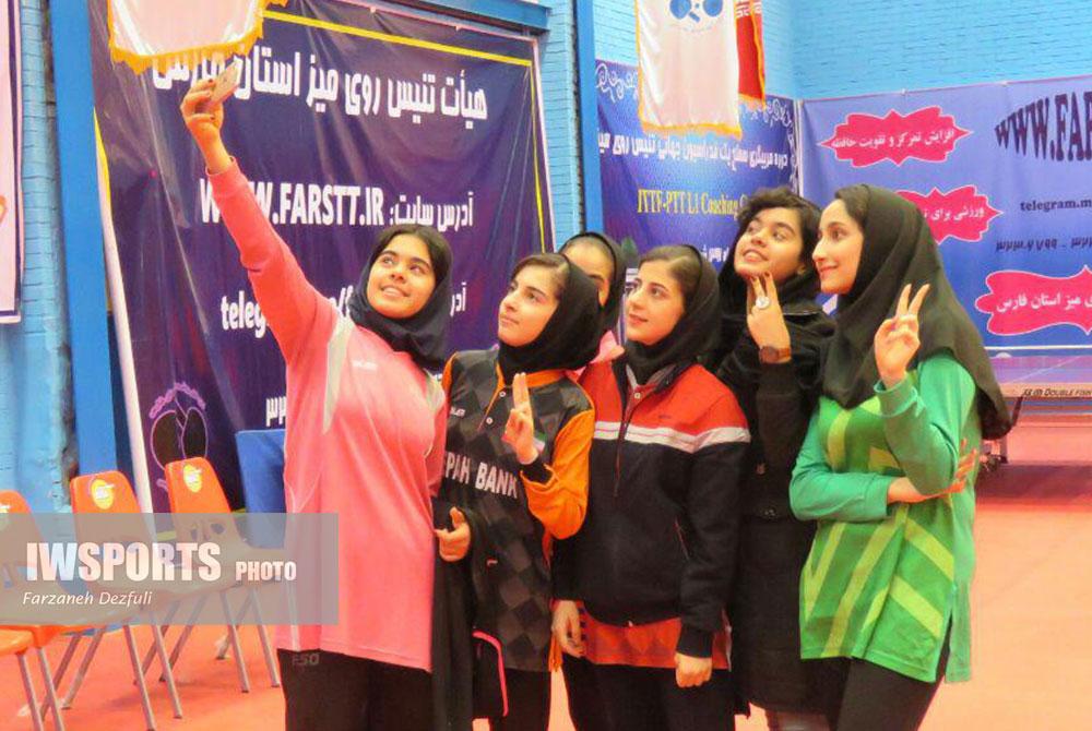 تصاویر تور تنیس روی میز دختران کشور در شیراز ؛ بخش دوم