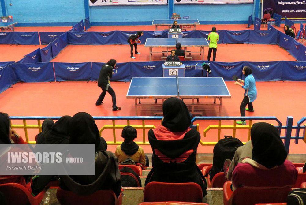 تور ایرانی تنیس روی میز دختران در شیراز ؛ پریناز حاجیلو و شیما صفایی در صدر