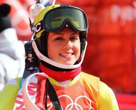 فروغ عباسی اسکی زنان ایران اسکی اسلالوم آلپاین Forough Abbasi iran women ski olympic 560x451 سیاست جوانگرایی در فدراسیون اسکی | فروغ عباسی و سمانه بیرامی باهر به پایان خط رسیده اند؟