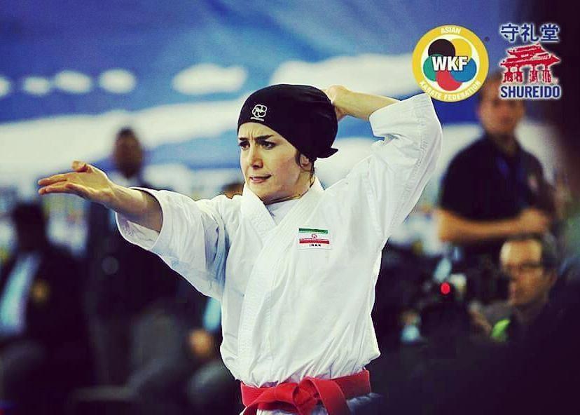 نگین باقری کاتا تیم ملی کاراته زنان ایران Negin Bagheri Iran Kata 4 کاراته وان پاریس | نمایش جذاب فاطمه صادقی و رتبه نهم کاتا؛ نگین باقری پانزدهم شد