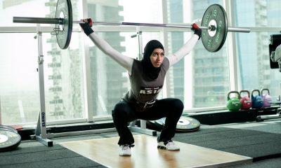 وزنه برداری بانوان وزنه برداری زنان lifting weiths hijab iran 400x240 مسابقات کشوری وزنهبرداری بانوان با حاشیه آغاز شد