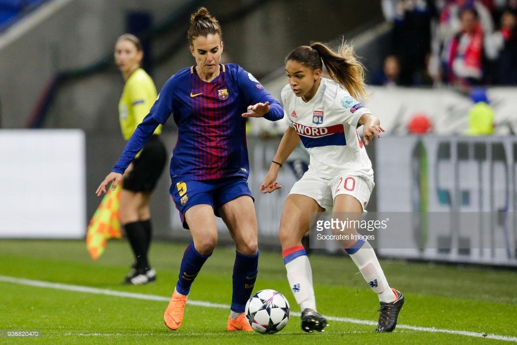 تصاویر دیدار لیون و بارسلونا در لیگ قهرمانان زنان اروپا – دور رفت