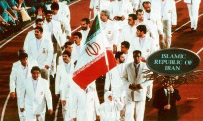 افتتاحیه المپیک 1996 آتلانتا لیدا فریمان پرچمدار ایران Lida fariman iran flag in Olympic 1996 Atlalnta USA 1 400x240 خاطره جالب اولین زن پرچمدار ایران در المپیک / لیدا فریمان: جامعه ورزش تاب آزادگی من را ندارد