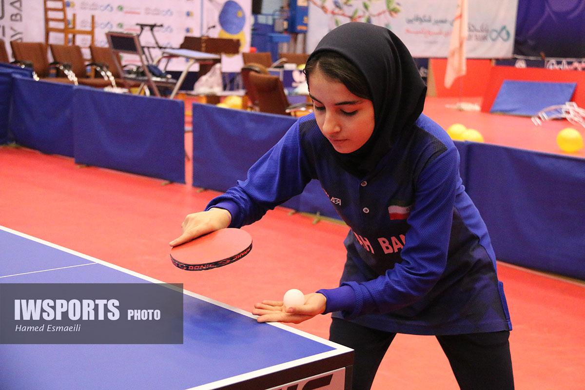 تنیس روی میز انتخابی نوجوانان / شیما صفایی ، رستمی و سراجی ملی پوش شدند