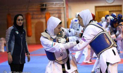 تمرین تیم ملی تکواندو بانوان بازی های آسیایی جاکارتا 2018 16 400x240 13 تکواندوکار در اردوی تیم ملی تکواندوی بانوان باقی ماندند