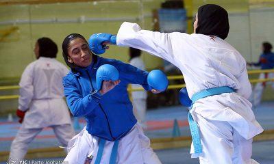 تمرین تیم ملی کاراته 31 400x240 انتخابی تیم ملی کاراته بانوان در جشنواره هانتی؛ مسافران اردن مشخص شدند