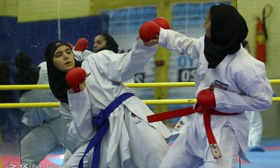تمرین تیم ملی کاراته 32 400x240 آغاز سوپر لیگ کاراته بانوان با حضور ۱۰ تیم