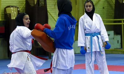 تمرین تیم ملی کاراته 4 400x240 المپیک آرژانتین / مبینا حیدری و فاطمه خنکدار در کاراته روی تاتامی می روند