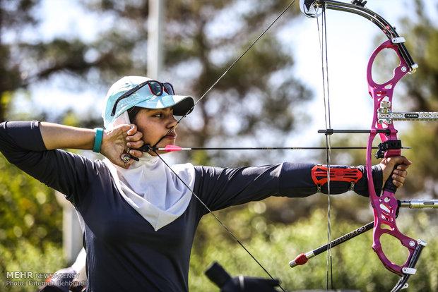 تیراندازی با کمان بانوان iran women archery iwsports آغاز اردوی تیم ملی تیراندازی با کمان در دانشگاه بوعلی سینا همدان
