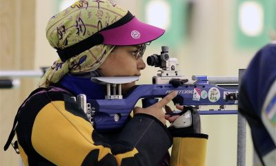 نجمه خدمتی تیراندازی ورزش بانوان Najmeh Khedmati iranian shooter 400x240 یونیورسیاد جهانی 2019  نوزدهمی نجمه خدمتی و ششمی تیم ملی تفنگ زنان ایران