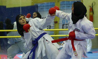 تمرین تیم ملی کاراته 32 400x240 آخرین مبارزه برای کسب سهمیه المپیک در کرواسی