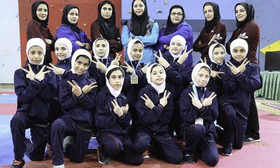 تکواندو خردسالان دختر کشور در یزد 13 400x240 تکواندو خردسالان کشور در یزد ؛ البرز از قهرمانی اش دفاع کرد