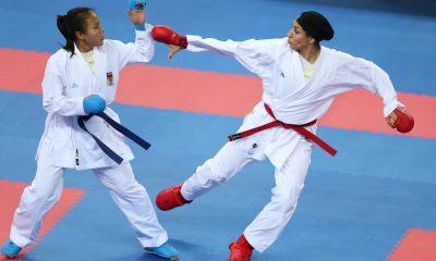 حمیده عباسعلی ورزش بانوان کاراته 2 400x240 هفتمین مرحله لیگ کاراته وان قرعه کشی شد | رویارویی بهمنیار و علیپور برابر اسلواکی و ژاپن