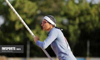روز دوم مسابقات دو و میدانی بانوان کشور در مشهد 14 مهسا میرزا طبیبی 400x240 پرش ۳.۶۰ متری در اولین تجربه آسیایی مهسا میرزا طبیبی ، دختر پرنده ایران