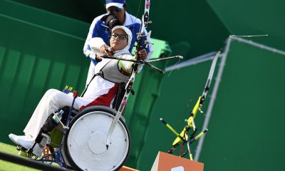 زهرا نعمتی تیراندازی با کمان بانوان 400x240 سفر به توکیو با اسپانسر | زهرا نعمتی به مسابقات آزمایشی تیروکمان المپیک می رود