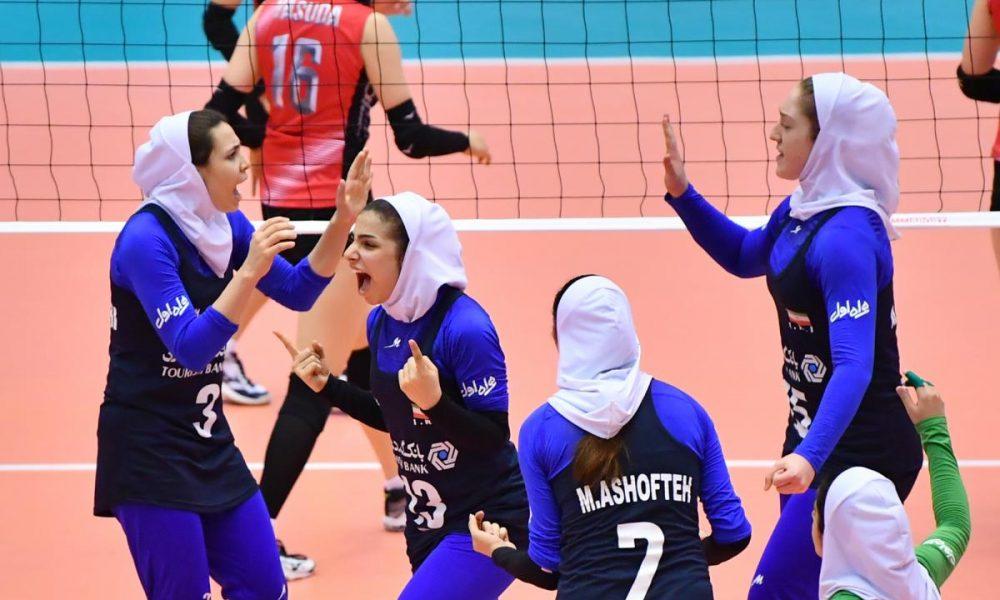 والیبال بانوان جوانان آسیا ایران ژاپن 14 1000x600 ویدئو | همراه با زهرا بخشی پیش از آغاز والیبال زنان آسیا در کره جنوبی