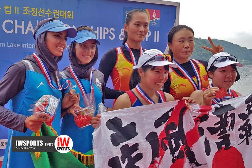 تصاویر قایقرانی رویینگ جوانان آسیا و اهدای مدال دختران ایران