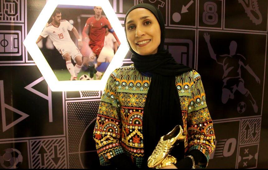 ویدئو نظرات کویستان خسروی پس از کسب تندیس بهترین بازیکن لیگ فوتبال