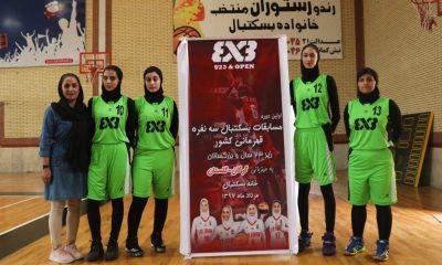 بسکتبال 3 نفره دختران تهران 400x240 تهران، قهرمان بسکتبال 3 نفره زیر 23 سال بانوان کشور شد