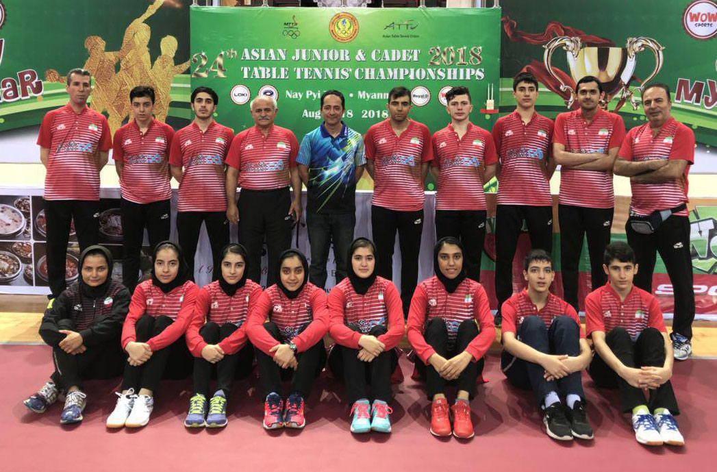 تنیس روی میز جوانان و نوجوانان آسیا ؛ پایان راه در تیمی و چشم به رقابت انفرادی
