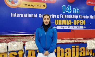 فاطمه صادقی کاتا ورزش بانوان کاراته پایگاه خبری ورزش زنان ایران 400x240 انتخابی تیم ملی کاتا در ارومیه ؛ فاطمه صادقی و 3 تفنگدار ، جهانی شدند
