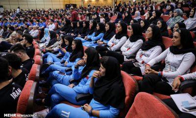 مراسم بدرقه کاروان ایران در بازی های آسیایی جاکارتا 23 400x240 در انتظار اعلام رسمی فهرست کاروان جاکارتا ؛ سهم بانوان از 105 نفر به 97 نفر یا کمتر