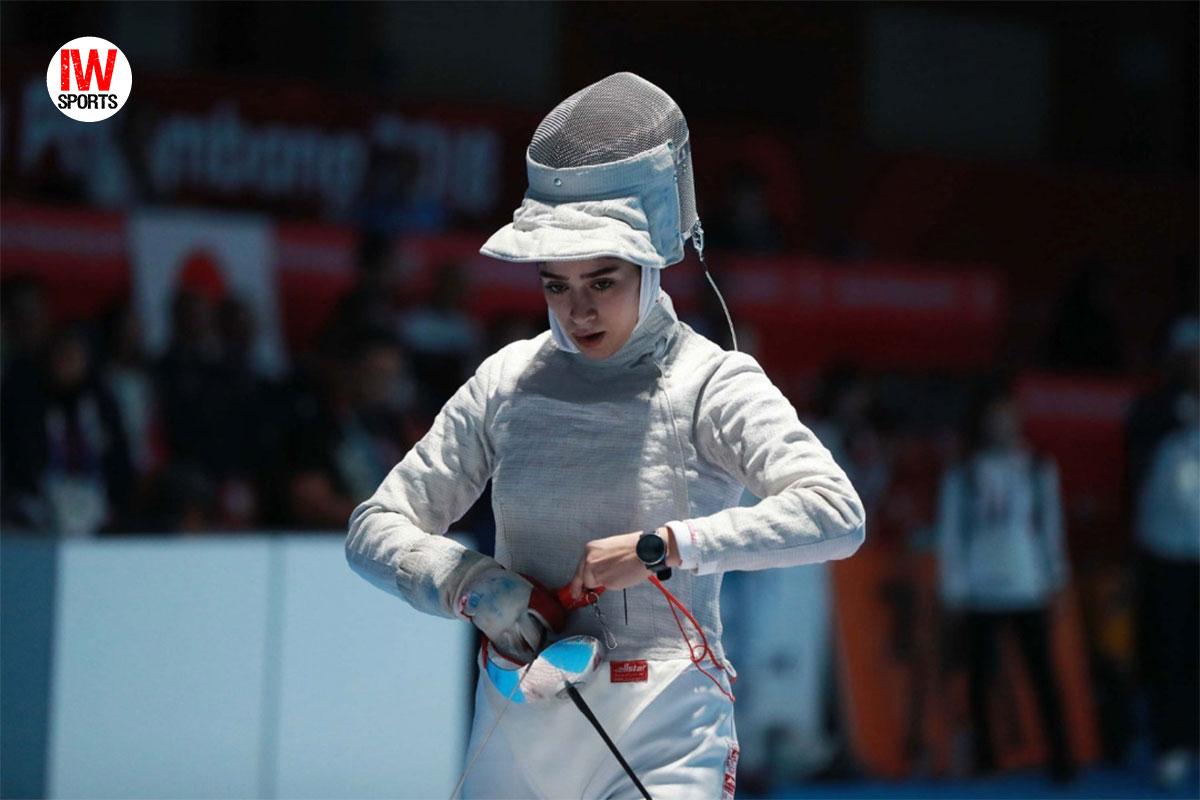 نجمه سازنجیان نماینده سابر ایران در یک چهارم نهایی متوقف شد