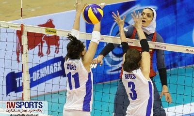 دیدار تیم های ملی والیبال بانوان ایران و فیلیپین در کاپ آسیا ؛ شهریور 97 10 400x240 مائده برهانی: تیم ملی والیبال بانوان کم دیده شده است| تیم ملی مردان می تواند به سکو برسد
