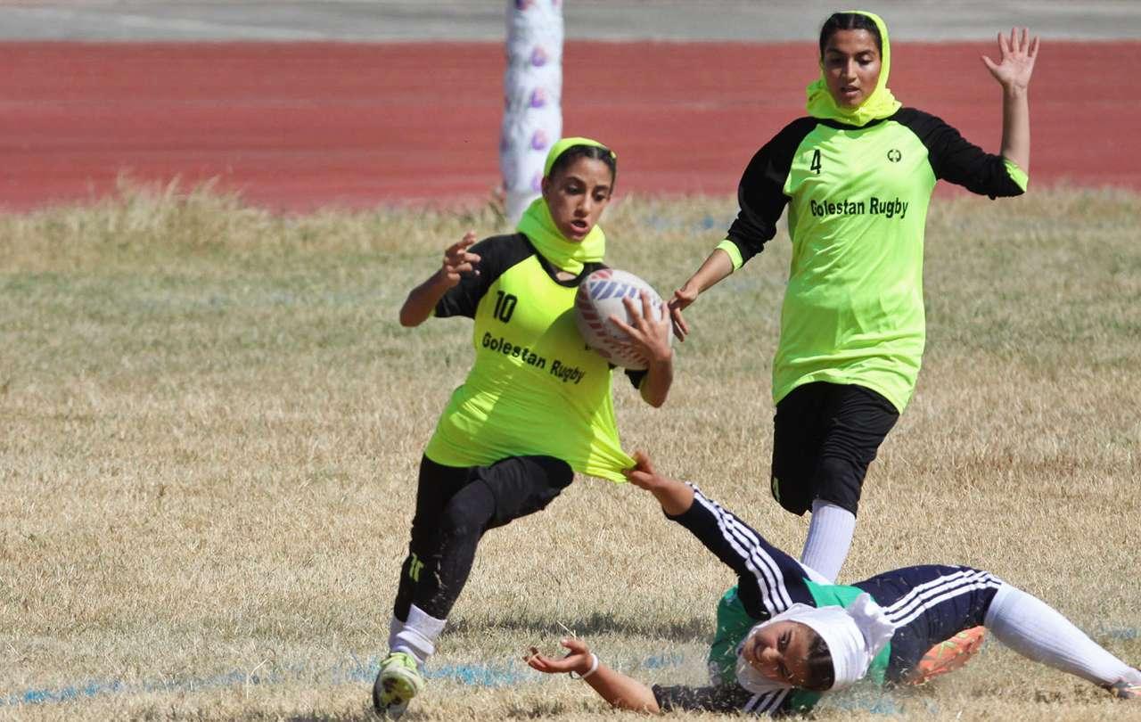 تصاویر مسابقات راگبی زیر ۱۸ سال دختران کشور در گرگان