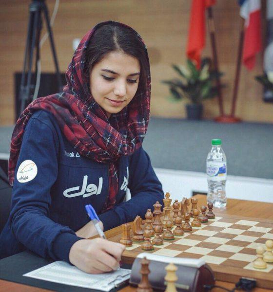 سارا خادم الشریعه 1 560x600 شطرنج بانوان شائوشین چین/ دومین شکست خادم الشریعه در دور ششم