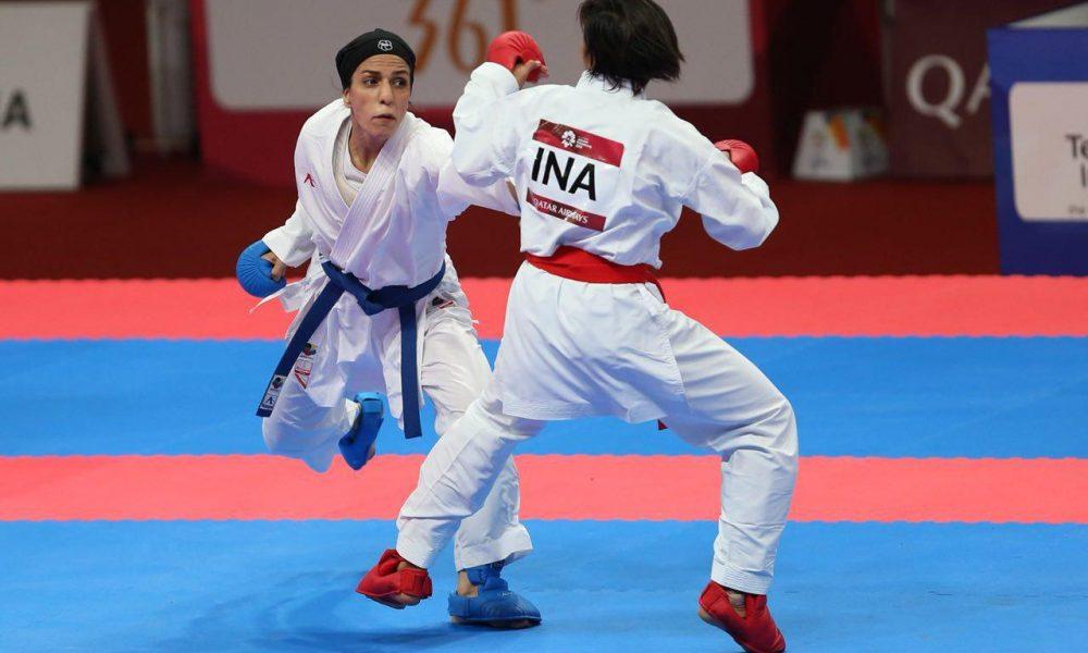 طراوت خاکسار 1 1000x600 ویدئو | لحظه پیروزی خاکسار و قهرمانی ایران در کومیته تیمی کاراته قهرمانی آسیا