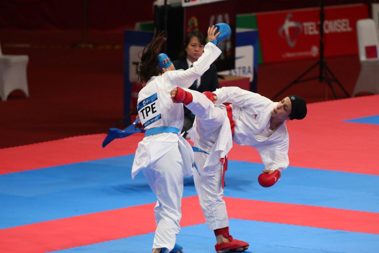 طراوت خاکسار 2 کاراته وان توکیو | حذف غیر منتظره طراوت خاکسار در جدول شانس مجدد