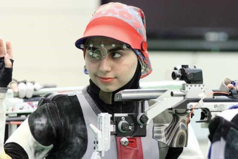 فاطمه کرم زاده تیراندازی بانوان مقام سوم دختران ایران در تفنگ تیمی قهرمانی آسیا | فاطمه کرم زاده هشتم شد