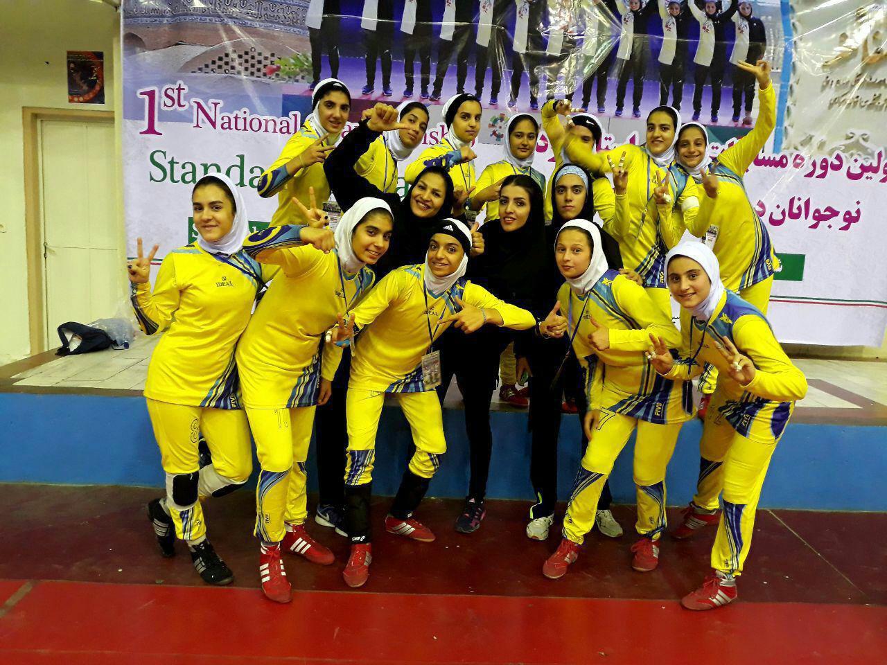 تصاویر مسابقات کبدی نوجوانان دختر کشور در اراک