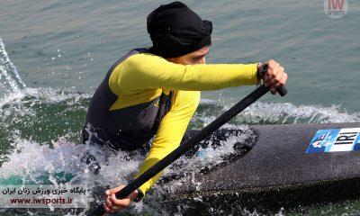 نیروانا اسدبیگی عضو تیم ملی قایقرانی کانو اسلالوم جوانان در المپیک جوانان آرژانتین 4 400x240 رودخانه کرج ؛ میزبان مسابقات قایقرانی اسلالوم آسیا
