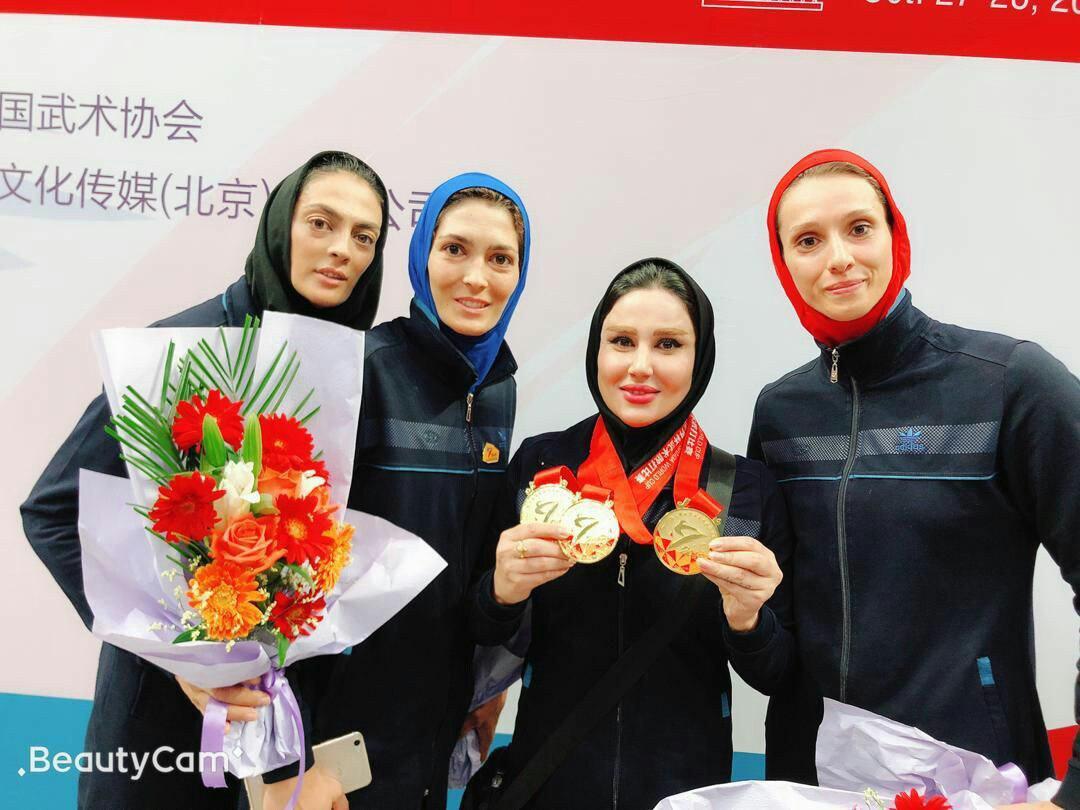 جام جهانی ساندا در چین/ الهه و شهربانو منصوریان و فریناز نذیری طلایی شدند