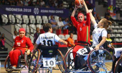 بسکتبال با ویلچر زنان ایران و تایلند در رده بندی بازی های پارا آسیایی جاکارتا 8 400x240 بسکتبال با ویلچر قهرمانی آسیا | جایگاه پنجم برای دختران بسکتبالیست در تایلند