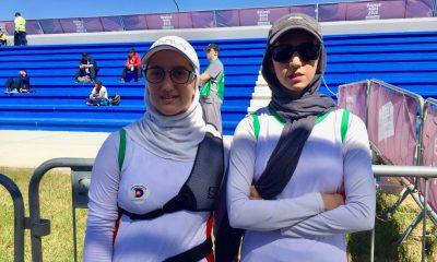 تیراندازی با کمان سوگند رحمانی زهرا شعبانی 400x240 المپیک جوانان / پایان کار سوگند رحمانی در تیراندازی با کمان