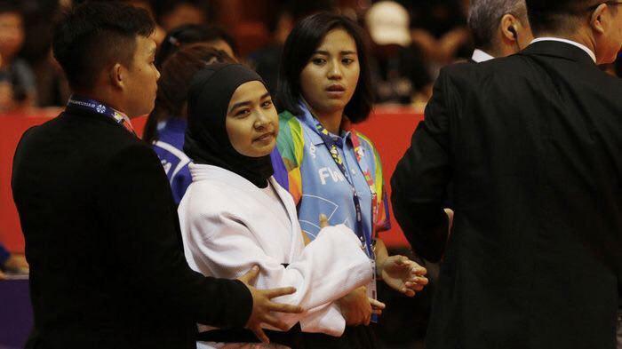 تکرار مورد حجاب مارال مردانی ؛ این بار در پارا آسیایی جاکارتا