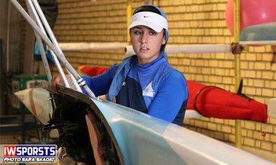 هانیه بیداد در اه المپیک جوانان آرژانتین ؛ تمرین در دریاچه آزادی 4 مهر 97 1 400x240 تمرین هانیه بیداد دختر قایقران رویینگ ایران در راه المپیک جوانان آرژانتین