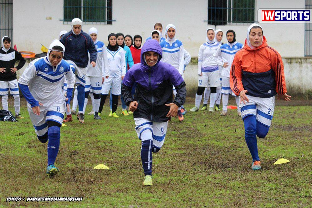 گزارش تصویری تمرین تیم فوتبال بانوان ملوان