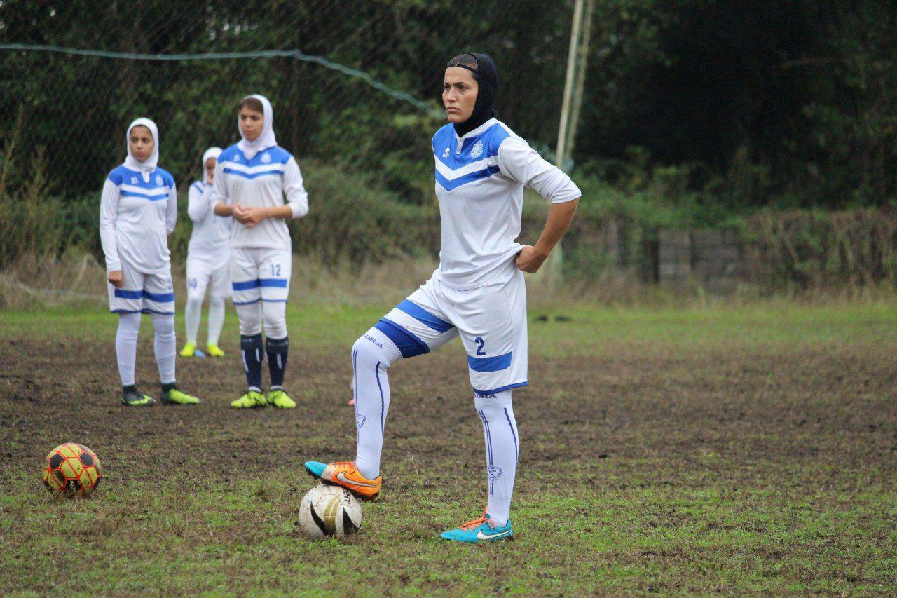 گزارش تصویری تمرین تیم فوتبال بانوان ملوان در انزلی