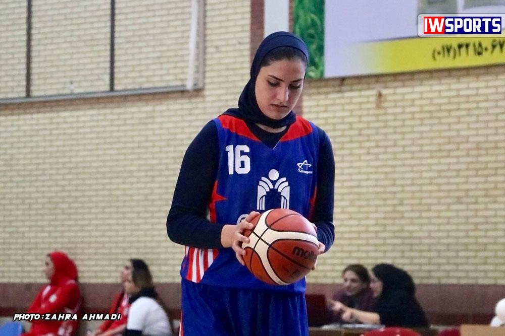 گزارش تصویری دیدار دانشگاه گلستان و هیرو تهران در لیگ برتر بسکتبال بانوان