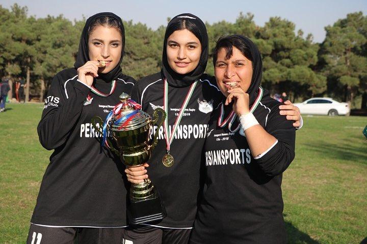 گزارش تصویری قهرمانی داتیس در مسابقات راگبی ۱۵ نفره بانوان ایران