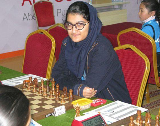 مبینا علی نسب 560x441 مبینا علی نسب از رقابت با شطرنج باز رژیم صهیونیستی انصراف داد