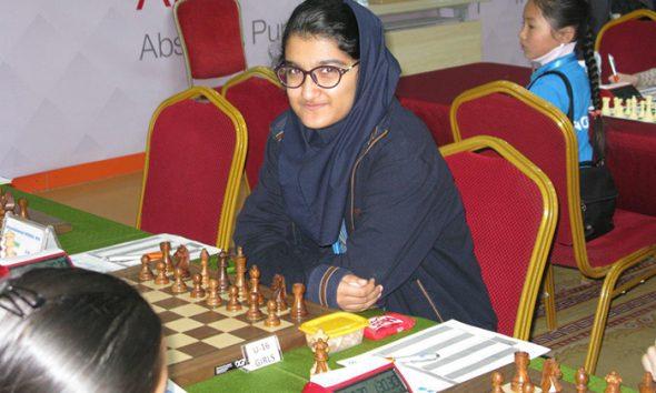 مبینا علی نسب 590x354 مبینا علی نسب از رقابت با شطرنج باز رژیم صهیونیستی انصراف داد