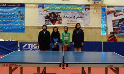 نیلیا نقیبی تارا سوری تور تنیس روی میز هوپس قم 400x240 پایان تور تنیس روی میز هوپس دختران در قم/ ستاره های آینده از تهران و بوشهر می آیند