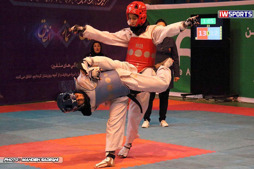 مسابقات تکواندوی آزاد کشور آذر 97 14 1000x667 گزارش تصویری مسابقات تکواندوی آزاد بانوان کشور / بخش اول