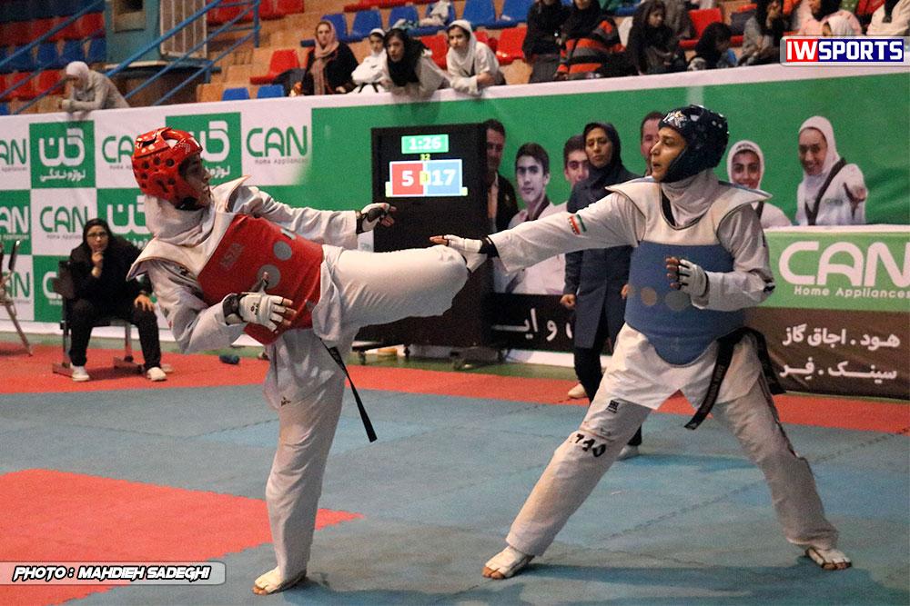 مسابقات تکواندوی آزاد کشور ؛ ناهید کیانی و زهرا پور اسماعیل و اثبات شایستگی ها