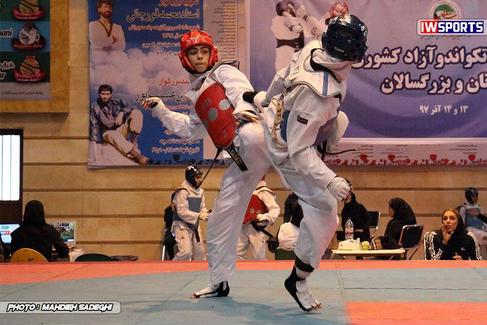 مسابقات تکواندوی آزاد کشور آذر 97 2 1000x667 گزارش تصویری مسابقات تکواندوی آزاد بانوان کشور / بخش اول